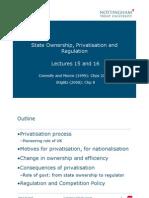 Lec 15 16 Privatisation Regulation