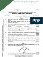 Analysis & Design of Algorithm Dec 2010