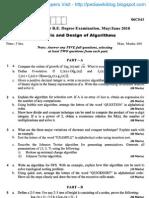 Analysis & Design of Algorithm June 2010