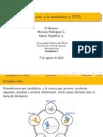 1 - Introducción a estadística y  SPSS (Adm -2012)