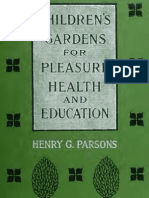 Children's Gardens for Pleasure, Health and Education