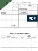 TALLER MATRIZ  DE  EVALUACIÓN  DE  IMPACTO  AMBIENTAL (2)