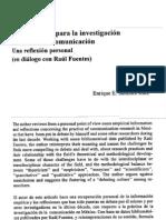 Algunos Retos Para La Investigacion Mexicana de Comunicacion. Una Reflexion Personal