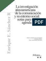 La Investigacion Latinoamericana de La Comunciacion y Su Entorno Social