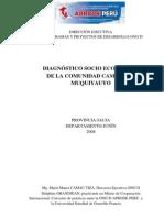 Estudio Socioeconomico - Comunidad de Muquiyauyo
