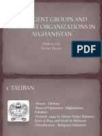 Insurgent Groups and Terrorist Organizations in Afghanistan