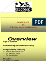 Presentation Use of the Dictionary (1)