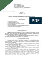 Tema 4. Cursurile 5-6. Statul - Institutie Fundamentala a Sistemului Politic