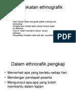 Pendekatan ethnografik