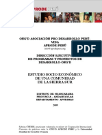 Estudio Del Distrito de Huancarama