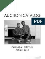 Citizen Schools a WOW! Affair Silent Auction Catalog 2013