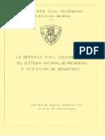 Defensa Civil Colombiana y Sistema Nacional de Riesgos