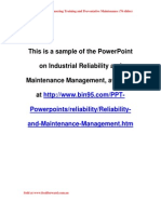 Reliability Ppt Day3 Sample