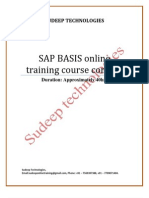 Sap Basis Online Training