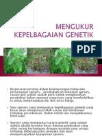 MENGUKUR KEPELBAGAIAN GENETIK