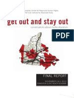 Get Out Stay out Final Report