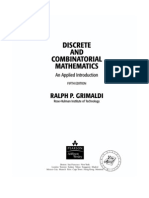 Discrete and Combinatorial Mathematics - An Applied Introduction 5th Ed - r. Grimaldi (Pearson, 2004) Ww