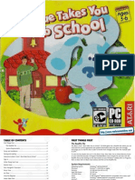 Blues Clues - Blue Takes You to School - Manual - PC