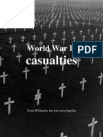 2013 World War II Casualties According to en.wikipedia
