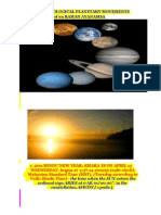 2011 Astrological Planetary Movements