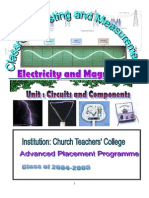 Unit Plan for Electricity and Magnetism