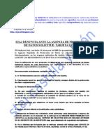 Hoja Informativa Denuncia Tarjeta Lexnet