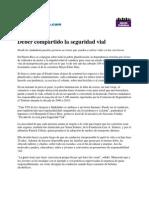DEBER COMPARTIDO LA SEGURIDAD VIAL