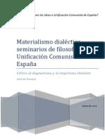 Materialismo Dialectico Seminarios de Filosofia UCE