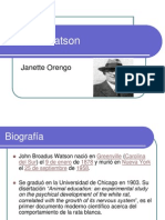John B Watson(Psicologia)
