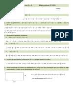 Prueba de Ecuaciones 2º eso - Solución