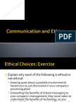 Communication and Ethics