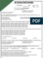 Teste de Lingua Portuguesa- JMB - 9º ANO
