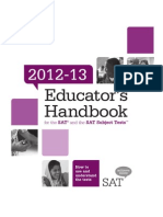 Educators Handbook for Sat and Sat Subject Tests