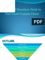 Random Yield in Supply Chain