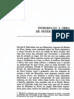 Introdução à obra de Peter Drucker