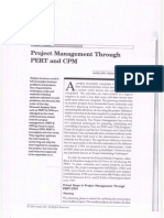 Project Management Through PERT and CPM