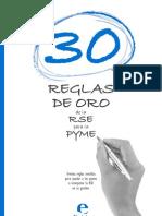 30 Reglas de Oro de La Rse Para Pymes
