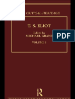 T.S.eliot_ the Critical Heritage, Volume 1 - MICHAEL GRANT (Edt)