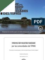 Libro TIPNIS Informe Del Recorrido