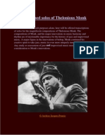Thelonious Monk Solo Transcriptions