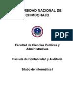 Sílabo Informática I - Cont y Auditoría
