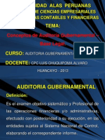 1 La Auditoria Gubernamental - Definicion