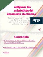 Configurar las características del documento electrónico
