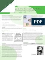 A Level Psychology SM Behavioural Study Poster