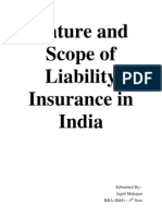 Nature and Scope of Liability Insurance in India