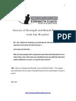 Wendler Bench Secrets