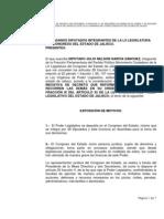 Iniciativa sobre Convenios Judiciales Congreso de Jalisco