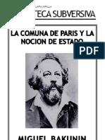 Bakunin m - La Comuna de Paris y La Nocion de Estado