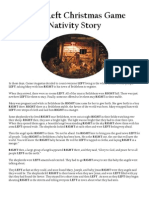 graphic relating to Left Right Christmas Game Printable named Instantly Still left Xmas Video game Nativity Tale and Other Xmas
