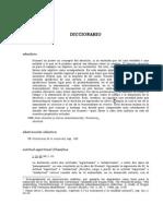 BREVE DICCIONARIO ANALÍTICO DE CONCEPTOS HUSSERLIANOS